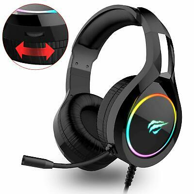 havit RGB Wired Gaming Headset PC USB 3.5mm XBOX / PS4