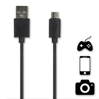 BLACK UNIVERSAL MICRO USB CHARGING CABLE 3M Male Type A