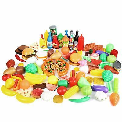 120 Piece Pretend Play Toy Food Set Kids Children's Creative