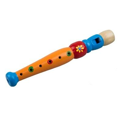 1x Wooden Flute Toy Kids Music Educational Toy--Random Color