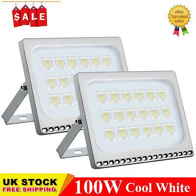 2X 100W LED Floodlight Outdoor Garden Seucrity Light Cool