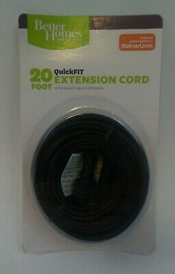 Better Homes & Gardens QuickFIT 20ft Extension Cord