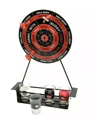 Fun Magnetic Dart Board Adults Drinking Game Set with 4x