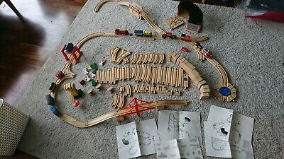 Large Wooden Train Set - mixture of Brio and Melissa and