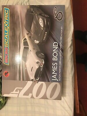 MICRO SCALEXTRIC Set James Bond 007 - Aston Martin New Never