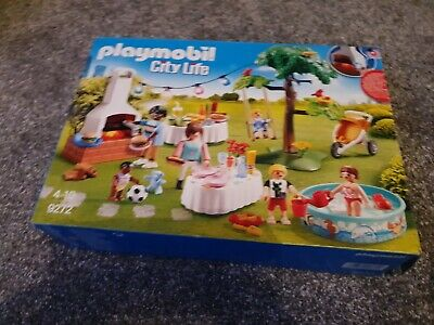 NEW BUT OPENED PLAYMOBIL CITY LIFE HOUSEWARMING PARTY SET