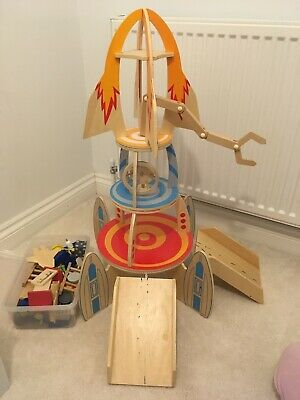Plum Super Space Rocket Ship Creative Wooden Toy Kids Play