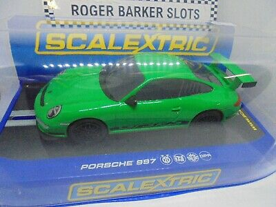 Scalextric C Porsche 997 GT3 RS Green BNIB