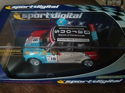 Scalextric Digital CD BMW Mini Cooper No.18 Barons MIB