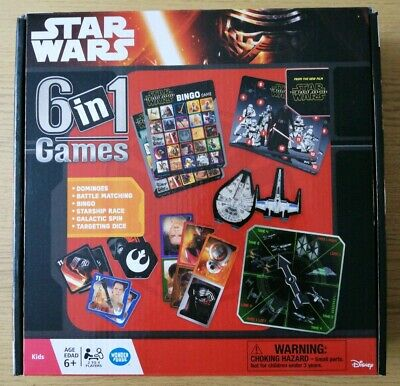 Star Wars 6 in 1 Game Children/Kids Classic Card Racing Dice
