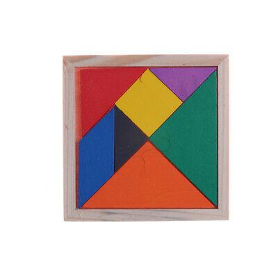 Wooden Tangram Brain Teaser Puzzle Educational Developmental
