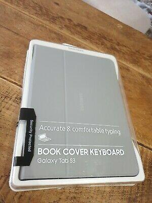 """Genuine Samsung Galaxy Tab S3 9.7"""" Keyboard Book Cover Grey"""