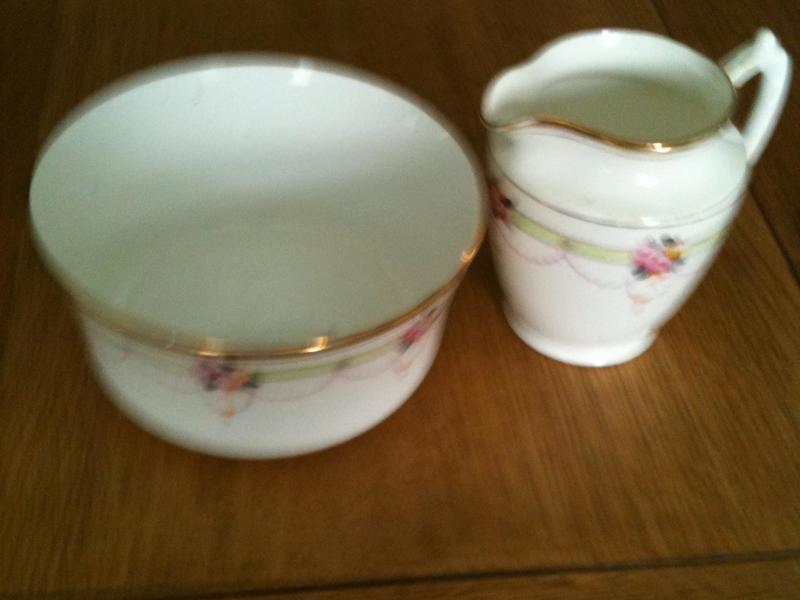 Vintage China Milk Jug and Sugar Bowl
