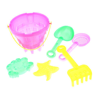 5pcs Kid Outdoor Beach Sand Tools Toys Bucket Shovel Set