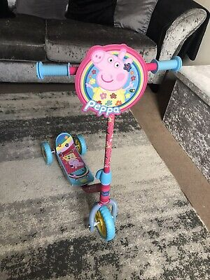 Girls Tri Scooter Peppa Pig Beginners Fun Kids My First 3