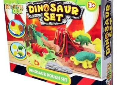 KandyToys Kids Dough Molding Modelling Dinosaur Play Set