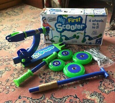 Ozbozz Kids Children Push Scooter Easy Folding 4 Wheels 2+
