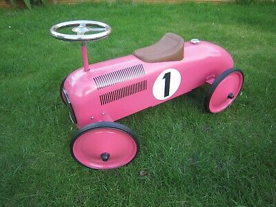 Retro Ride-On Racing Car Kids childrens push along