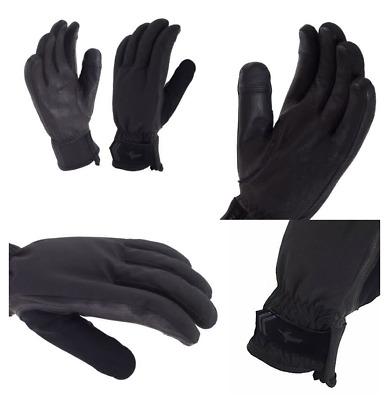 Sealskinz Women's All Season Gloves, Black/Charcoal, Large