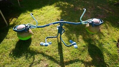 TP TOYS SPIRO HOP SPINNING SEESAW GREEN BOUNCER OUTDOOR TOY