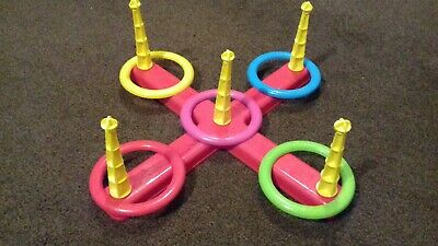 Toyrific Toys Quoits Set Assorted Colour ring toss game
