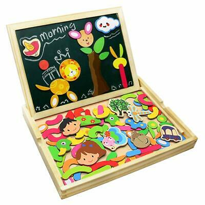 Wooden Jigsaw Puzzles Double Sided Magnetic Writing Board