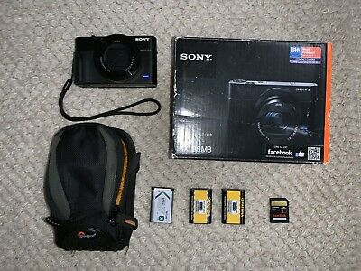 Sony Cyber-shot RX100 Mk III 20.1MP Digital Camera - Black