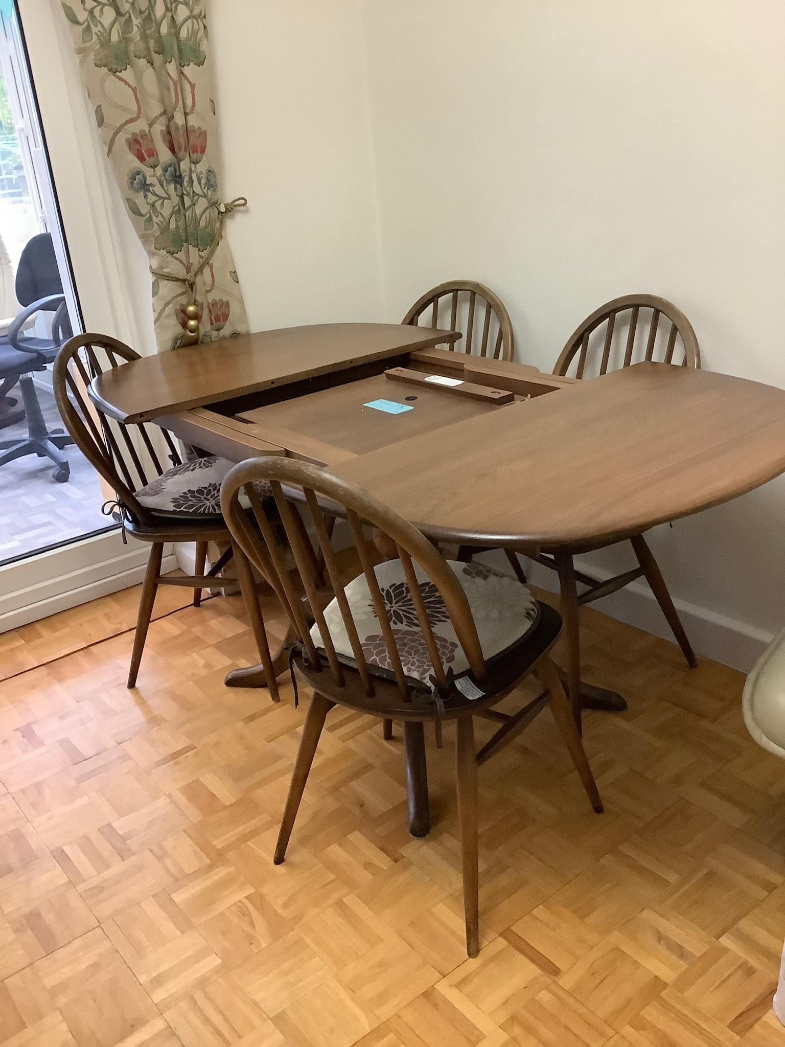 Ercol Dining Table and chair set