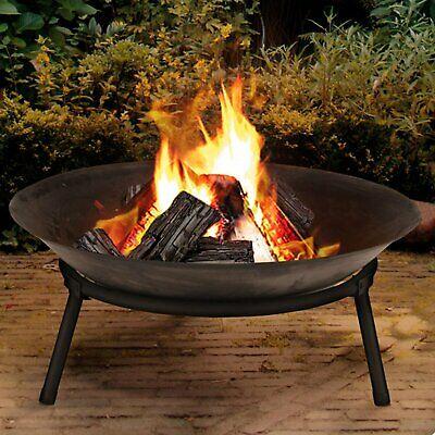 MTS Cast Iron Garden Fire Pit Basket Patio Heater Log Wood