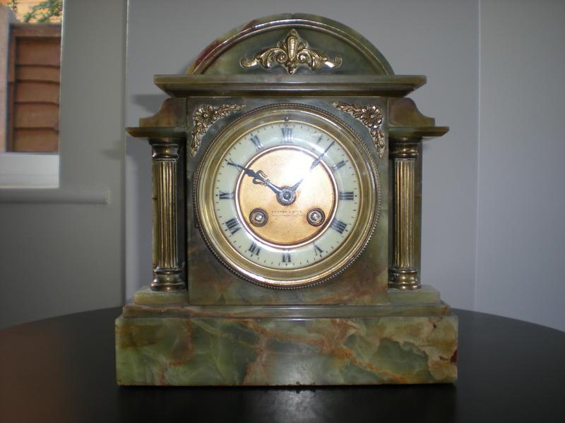 Onyx mantle Clock