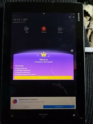 Sony Xperia Z2 SGPGB, Wi-Fi, 10.1in - Black Faulty