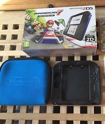 Nintendo 2DS Mario Kart 7 2GB Black/Blue Console (PAL)