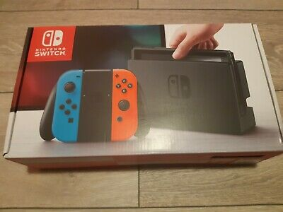 Nintendo Switch 32GB Home Console - Neon Red/Blue