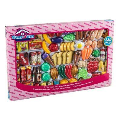 120 Piece Pretend Play Toy Food Set Kids Childrens Creative