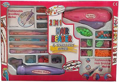 2 In 1 Magic Hair Beader & Jewelry Maker Toy Set Ages 3+