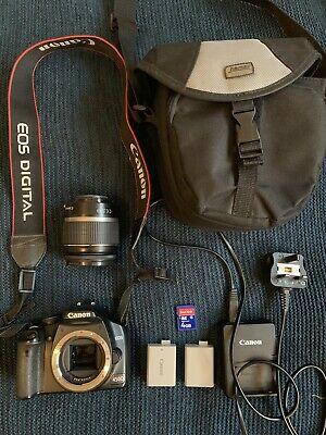 Canon EOS 450D 12.2MP Digital SLR Camera - Body Works, Lense