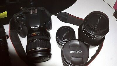 Canon EOS 550D 18.0MP Digital SLR Camera - Black with