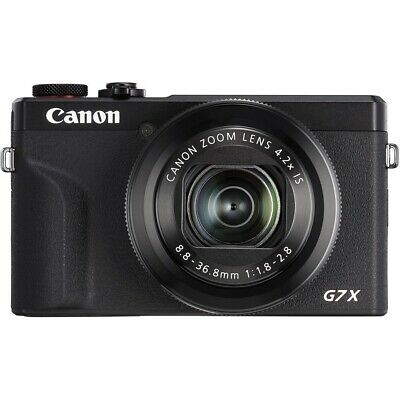 Canon PowerShot G7 X Mark III Digital Compact Camera: Black