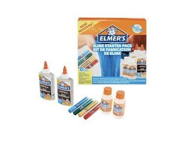 Elmer's Glue Slime Starter Kit, Clear Glue, Glitter Glue