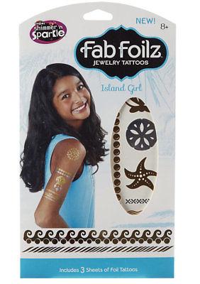 Fab Foilz Shimmer N Sparkle Body Art Island Girl Theme Brand