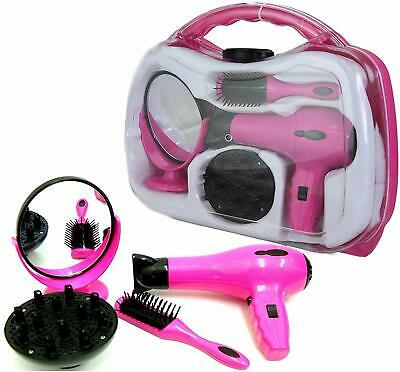 Girls Children's Role Play Toy Hair Dryer Hair Styler Set In