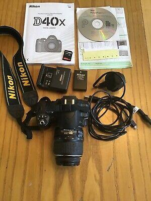 Nikon D D40x 10.2MP Digital SLR Camera - Black  mm -
