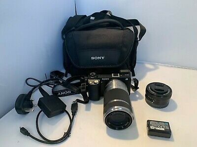 Sony NEX 6 Digital Camera mm Lens & mm Lens &