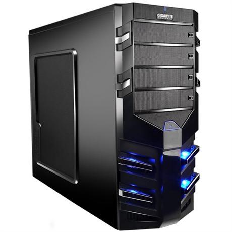 Sumo α - Gaming pc case GIGABYTE. With blue LED and 2 fans
