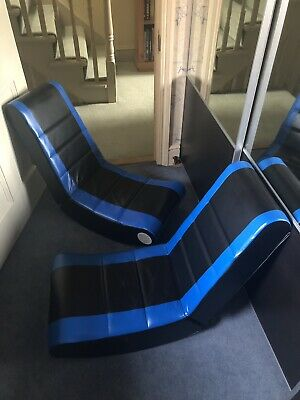 2 X Rocker Gaming Chair - Black and Blue