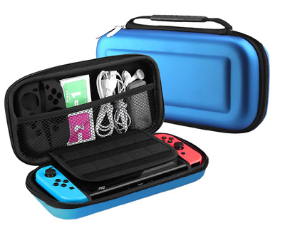 BLUE Hard Protective Carry Case Bag (HANDLE) For Nintendo