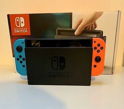 Nintendo Switch 32GB Home Console - Neon Red/Blue W/ Carry