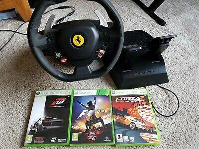 XBOX 360 Thrustmaster Ferrari 458 Italia Steering Wheel +