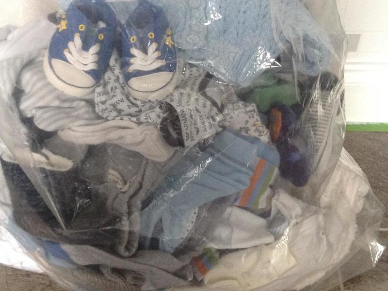 2 large bags of baby boys clothes o-18 months