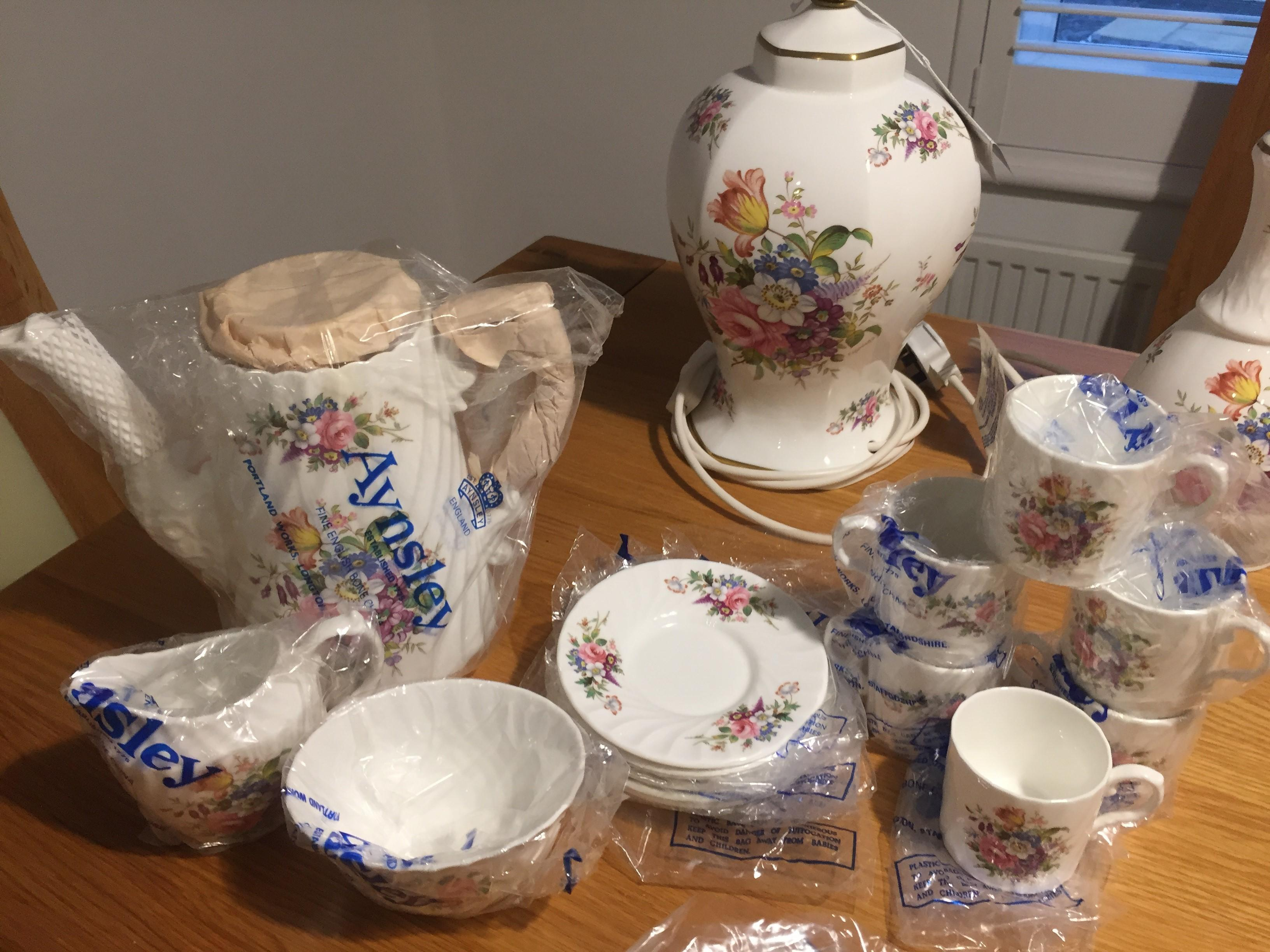 Aynsley China Coffee Set - New and boxed